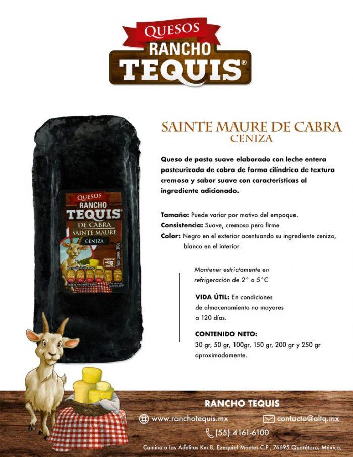 Ficha Tecnica Queso Sainte Maure cenizo